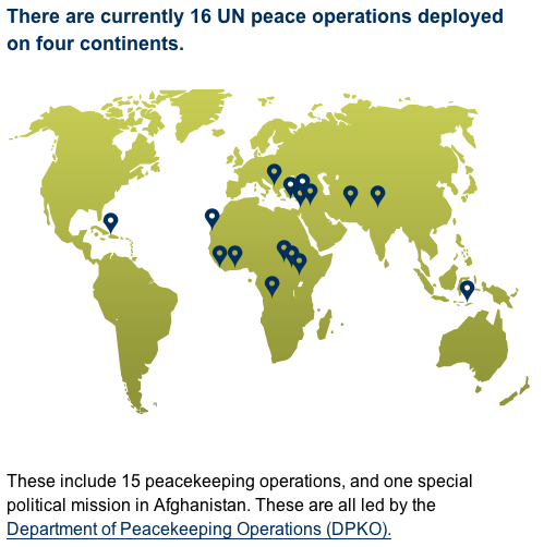 united nations peacekeeping operations and malaysia Since 1948 there have been 67 un peacekeeping operations close to 130 nations have contributed personnel at various times, and 115 are currently providing uniformed peacekeepers as of aug31, 2012, there were 15 peacekeeping operations under way with a total of 116,515 personnel.